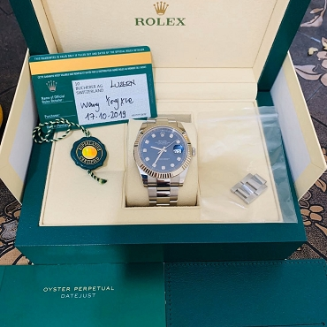 Rolex new Day Just II 126334G Blue Dial