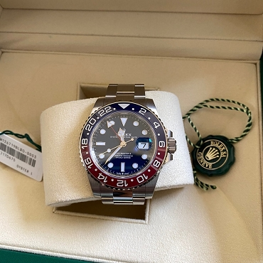 Rolex GMT-Master II White Gold Pepsi 40mm Blue Dial 126719BLRO
