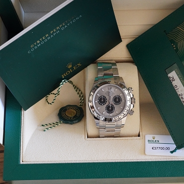 Rolex Daytona 116509 white gold brand new