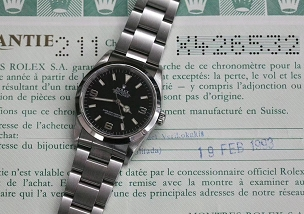 Rolex Explorer I 14270 1993 Special Edition Full set