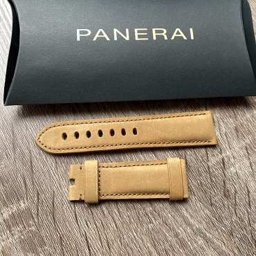 Panerai Leather Strap OEM 24mm Light brown