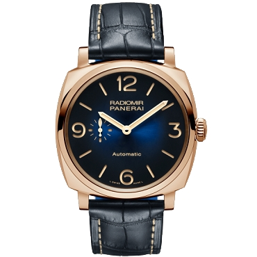 Panerai PAM 934 Radiomir Rose Gold Blue Arabic / Index Dial & Smooth Leather Bracelet 45mm